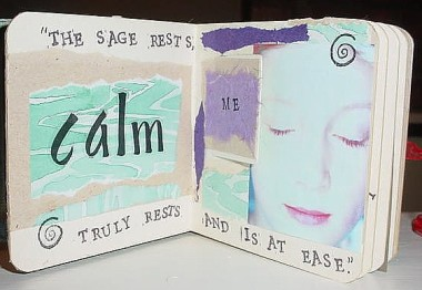 Detachment Altered Book- Calm Me / January 2009