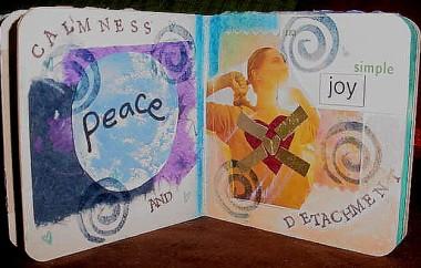 Detachment Altered Book Page 3 / Peace & Simple Joy