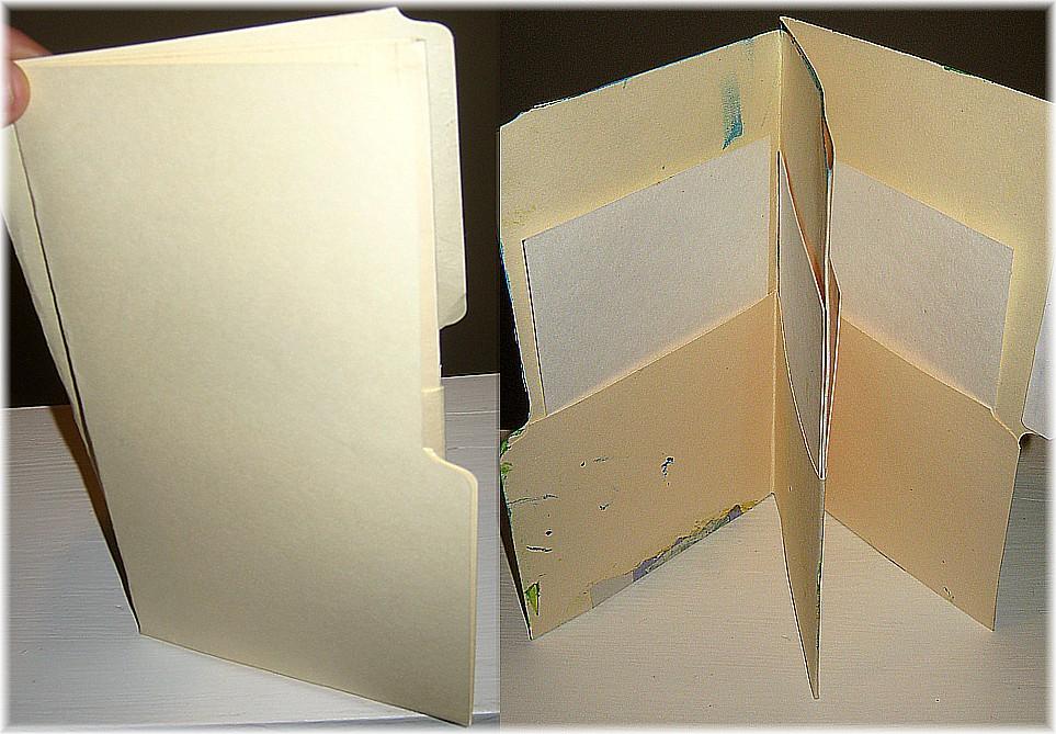 file folder art journal  video  how to tutorial