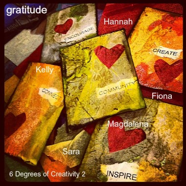 6 Degrees of Creativity 2 Gratitude Cards