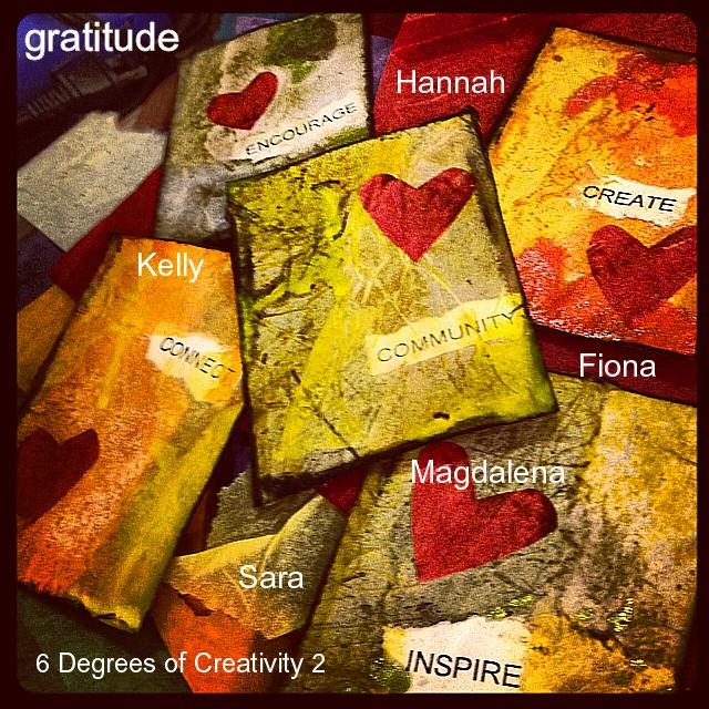 6 Degrees of Creativity 2 Gratitude Cards