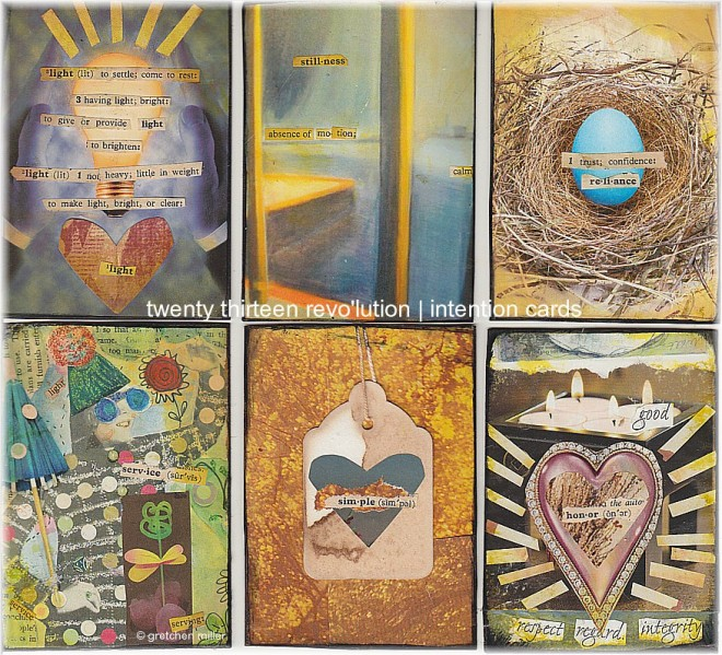 2013 Revolution Intention Cards