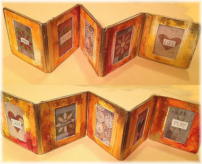 Slide Mount Accordion Book Finished