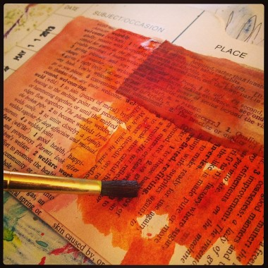 Painting Dictionary Pages