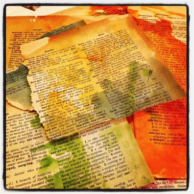 Painted Dictionary Pages