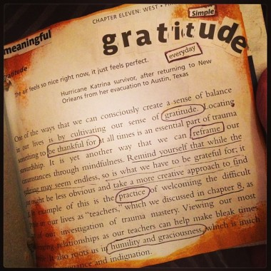 Gratitude: Self Care Journal Page