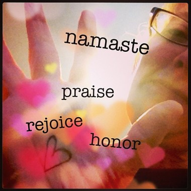 Through a Grateful Lens: Namaste | creativity in motion