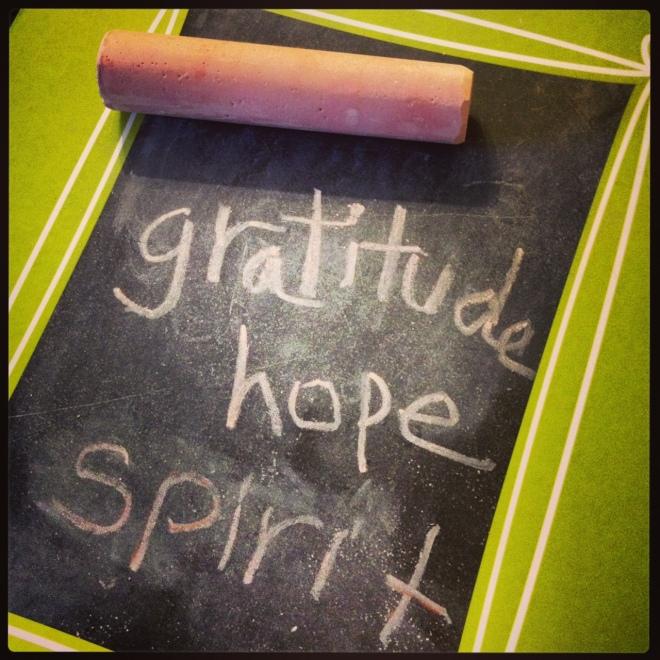 Adventure Supplies: Gratitude, Hope, & Spirit