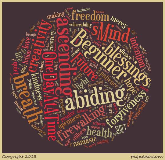 Twentythirteen A-Z Word Mandala o' Thankfulness   creativity in motion