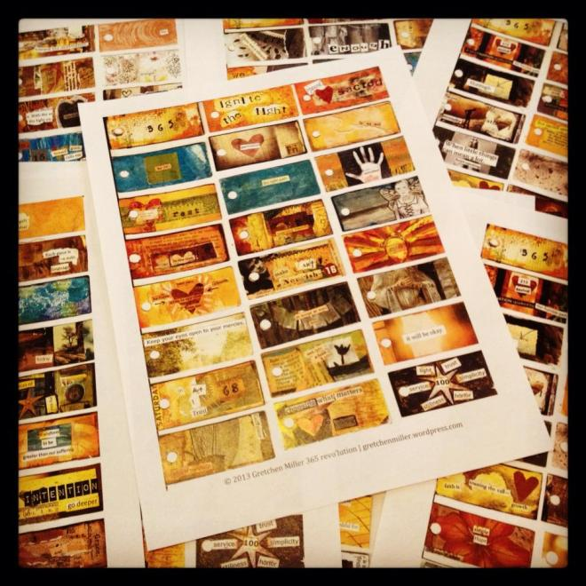 365 revo'lution collage sheets