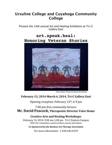 art. speak.heal: Honoring Veteran Stories