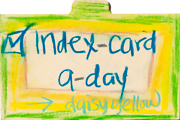 Index-Card-a-Day | Daisy Yellow Challenge