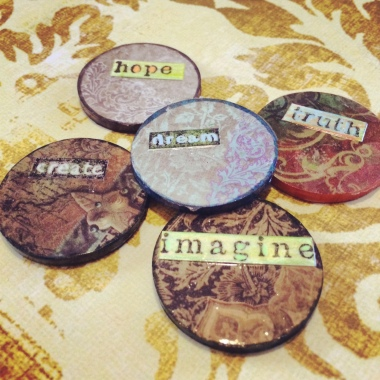 Creative Mail Art Collab: Artist Challenge Coin Exchange | 6 Degrees of Creativity