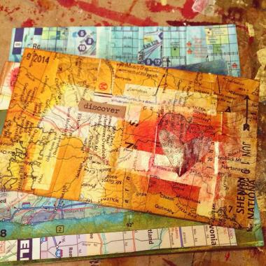 3x5 Journeying Into & Through    creativity in motion