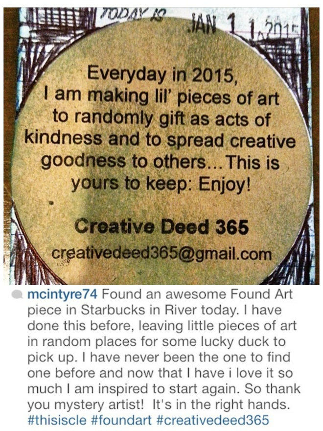 Creative Deed 365 Artful Beginnings: Creating It Forward in 2015| creativity in motion