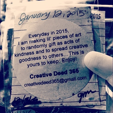 Creative Deed 365 Artful Beginnings: Creating It Forward in 2015| creativity in motion