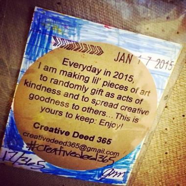 Creative Deed 365: January Offerings | creativity in motion