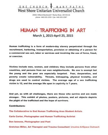 Human Trafficking in Art | creativity in motion