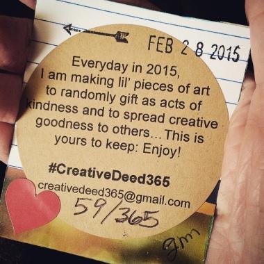 Creative Deed 365: February Offerings | creativity in motion