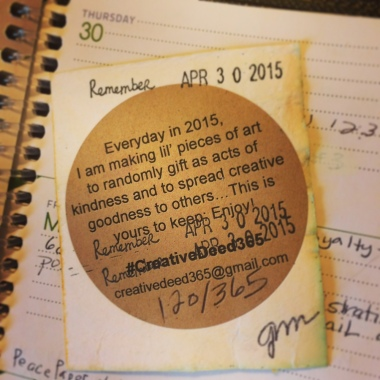 Creative Deed 365: April Offerings | creativity in motion