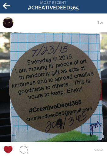 Creative Deed 365: July Offerings | creativity in motion
