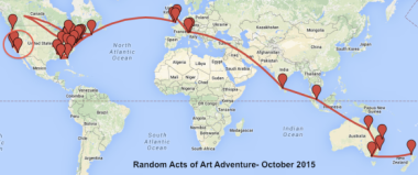 Random Acts of Art Advenure: The Final 10 Stops!