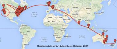 Random Acts of Art Advenure: The Final 10 Stops!