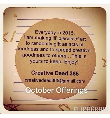 Creative Deed 365: October Offerings
