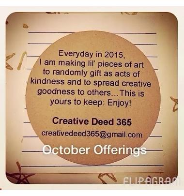 Creative Deed 365: October Offerings
