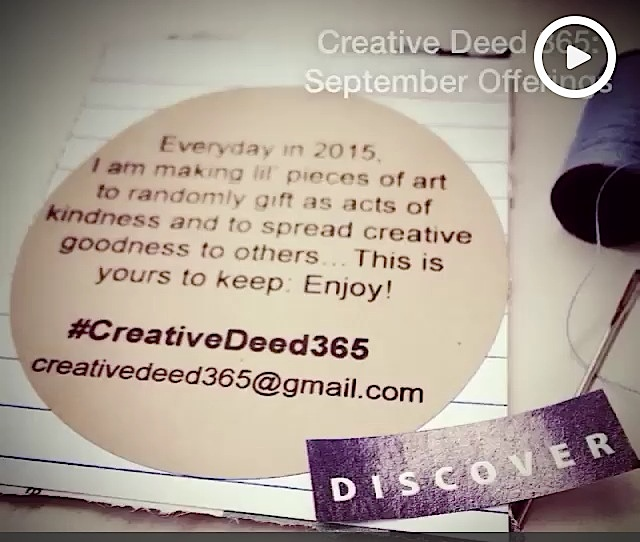 Creative Deed 365: September Offerings